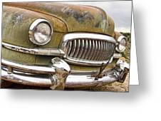 Vintage 1951 Nash Ambassador Front End 2 Greeting Card