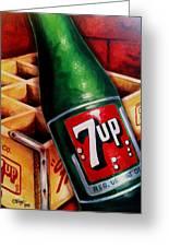 Vintage 7up Bottle Greeting Card by Terry J Marks Sr