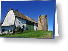 Vintage American Barn And Silo 1 Of 2 Greeting Card
