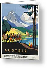 Vintage Austrian Travel Poster Greeting Card