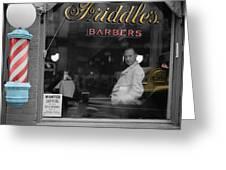 Vintage Barbershop 2 Greeting Card