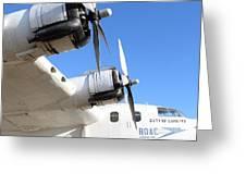 Vintage Boac British Overseas Airways Corporation Speedbird Flying Boat . 7d11265 Greeting Card