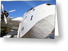 Vintage Boac British Overseas Airways Corporation Speedbird Flying Boat . 7d11273 Greeting Card