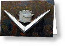 Vintage Caddy Emblem Greeting Card