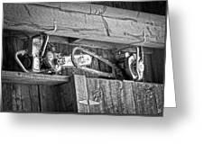 Vintage Chain Saws Greeting Card