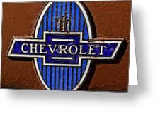 Vintage Chevrolet Emblem Greeting Card