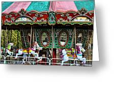 Vintage Circus Carousel - Merry-go-round Greeting Card