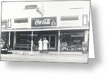 Vintage Coca Cola Store Greeting Card