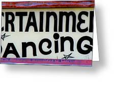 Vintage Dance Sign Greeting Card