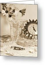 Vintage Dressing Table Greeting Card