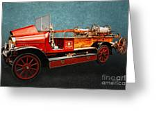 Vintage Fire Truck Greeting Card