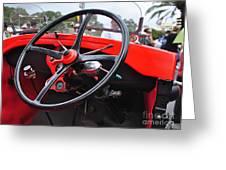 Vintage Ford - Steering Wheel... Controls - Circa 1920s Greeting Card by Kaye Menner