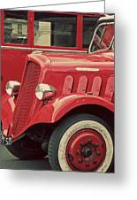 Vintage French Delahaye Fire Truck  Greeting Card