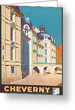Vintage French Travel Poster Greeting Card