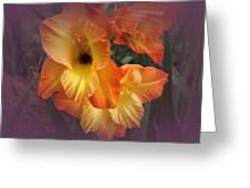 Vintage Gladiola  Greeting Card