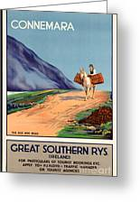 Vintage Ireland Travel Poster Greeting Card