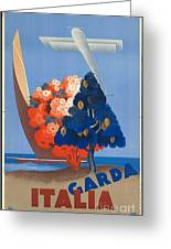 Vintage Italia Travel Poster Greeting Card