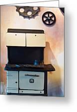 Vintage Kitchen Stove 4 Greeting Card