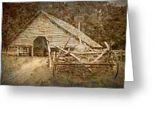 Vintage Looking Old Barn In The Great Smokey Mountains Greeting Card