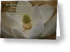 Vintage Magnolia With Verse Greeting Card
