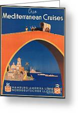 Vintage Mediterranean Travel Poster Greeting Card