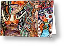 Vintage Mermaid And Wisdom Coral Angel Greeting Card