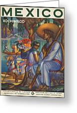 Vintage Mexico Travel Poster Greeting Card