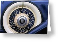 Vintage Nash Tire Greeting Card