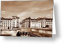 Vintage Paris 8 Greeting Card by Andrew Fare