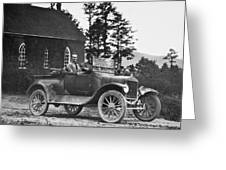 Vintage Photo Of Men In Truck Greeting Card