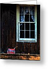 Vintage Porch Window And Gas Can Greeting Card