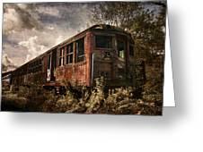 Vintage Rail Car Greeting Card