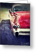 Vintage Red Car Greeting Card