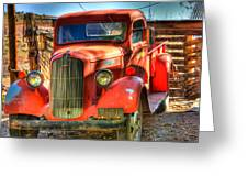 Vintage Red Dodge Greeting Card