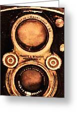 Vintage Rolleiflex Camera . Long Cut . 7d13357 Greeting Card