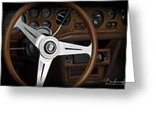 Vintage Rolls Royce Dash Greeting Card