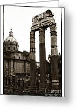 Vintage Ruins Greeting Card by John Rizzuto