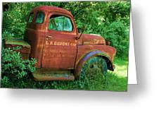 Vintage Rusted Dodge Truck Greeting Card