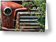 Vintage Rusty Dusty Gmc Graveyard Truck Greeting Card