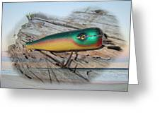 Vintage Saltwater Fishing Lure - Masterlure Rocket Greeting Card