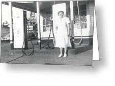Vintage Service Station Greeting Card