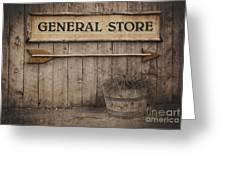 Vintage Sign General Store Greeting Card
