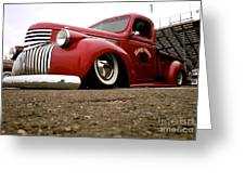 Vintage Style Hot Rod Truck Greeting Card