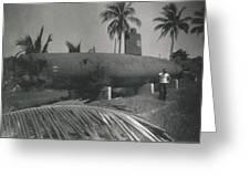 Vintage Submarine Greeting Card