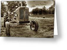 Vintage Tractor Greeting Card