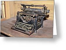 Vintage Typewriter Greeting Card by Susan Leggett