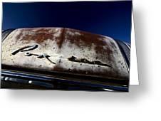 Vintage Vehicle Left To Rust In Readlyn Saskatchewan Greeting Card