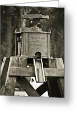 Vintage Water Pump Greeting Card