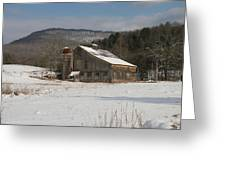 Vintage Weathered Wooden Barn Greeting Card