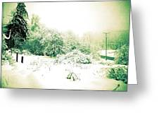 Vintage Winter Photograph Greeting Card